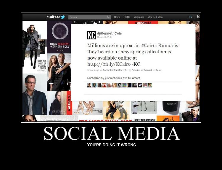 Kenneth Cole's Egypt Tweet Sets the Social Media Sphere Alight