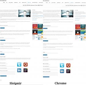chrome vs sleipnir