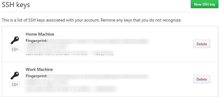 Add SSH keys to GitHub