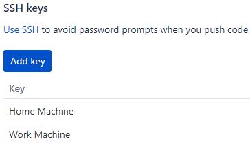 Add SSH Key to Bitbucket