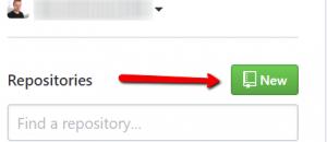 Create a new repo in GitHub