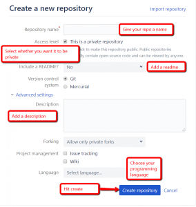 Additional Bitbucket repo settings