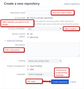Additional Bitbucket repo settings