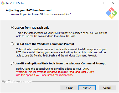 Use Git Bash Only