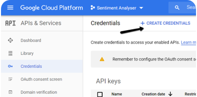 Create Google Cloud credentials